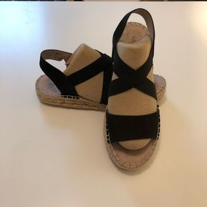 Nine West Espadrille Sandals, Black, Sz 8.5
